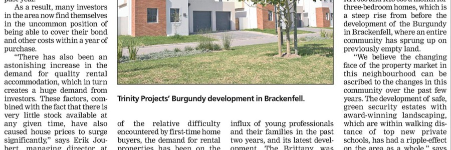 Weekend Argus – Northern suburbs rental market in rude health