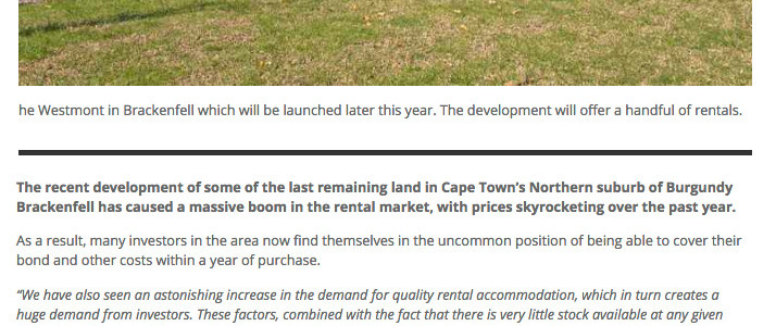 Propertywheel website – Northern suburbs rental market in historic boom, prices surge