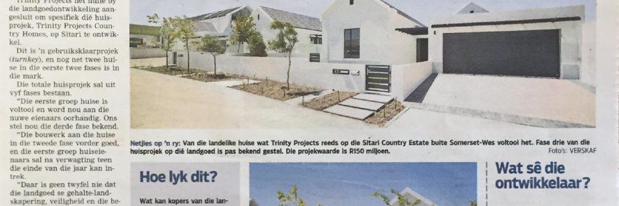 Die Burger – Sitari Country Estate – Derde van vyf fases bekend gestel
