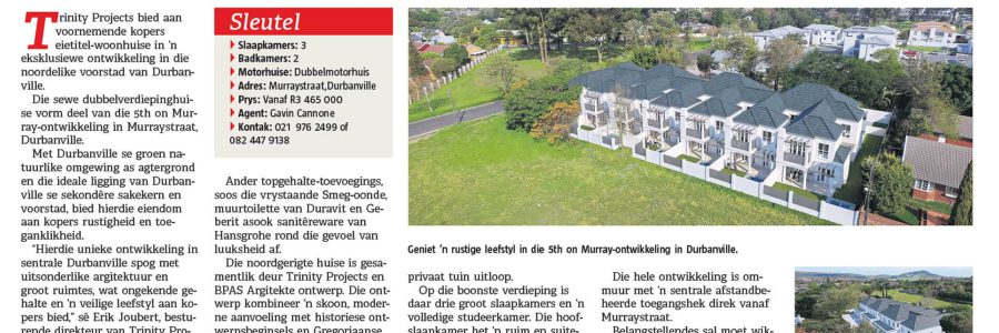 Die Burger Eiendomme – 5th on Murray, Durbanville – Slegs een woning oor in eksklusiewe 5th on Murray in Durbanville