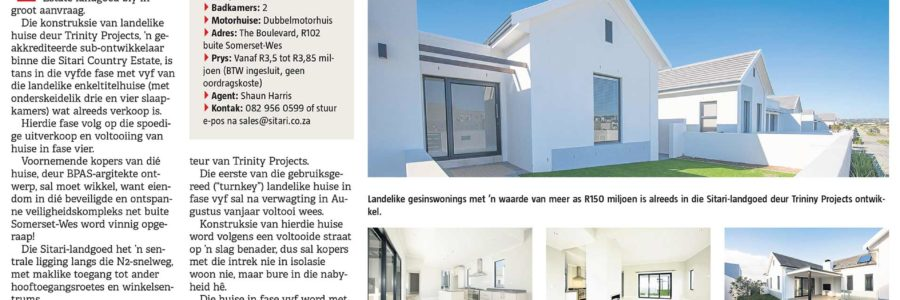 Die Burger Eiendomme: Sitari Country Estate – Trinity Projects-huise in Sitari verkoop blitsig!