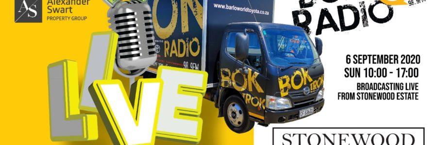 Bok Radio Broadcoast: Live from Stonewood estate