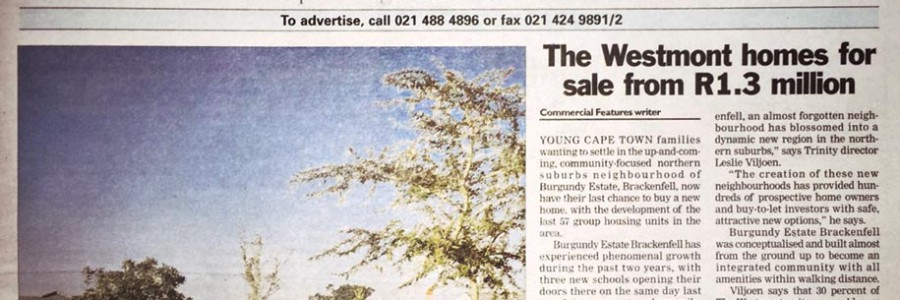 The Westmont homes for sale from R1.3 million