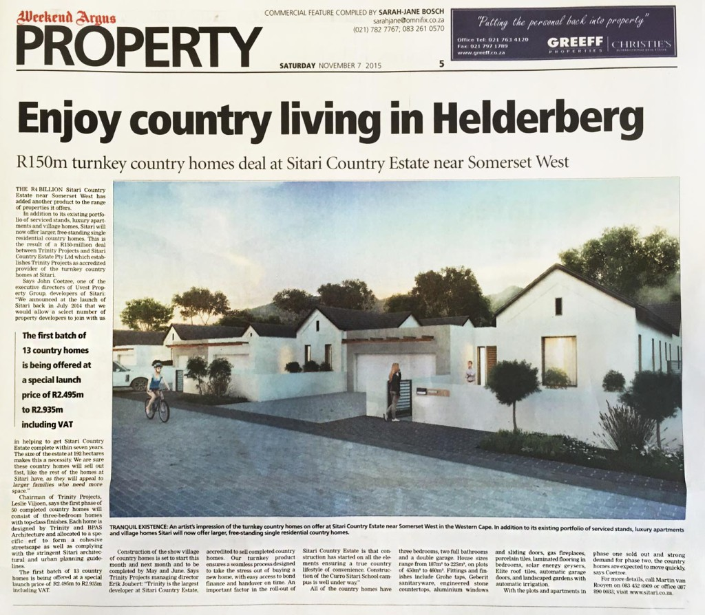 cape argus - country  homes