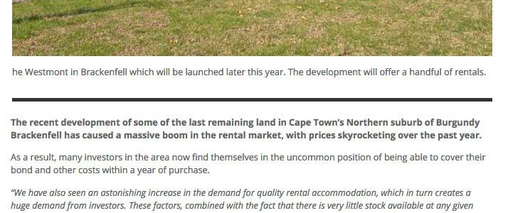 Propertywheel website – Northern suburbs rental market in historic boom, prices surge
